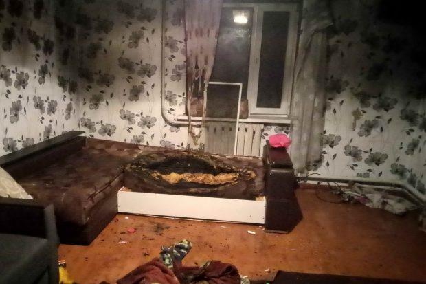 Под Харьковом в результате пожара пострадал подросток