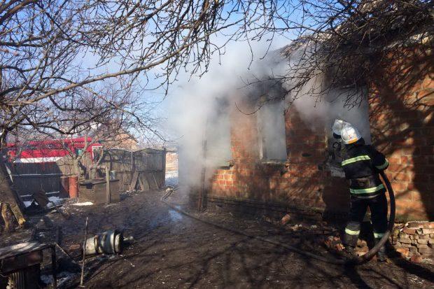 В Харьковской области на пожаре обнаружено тело погибшего мужчины