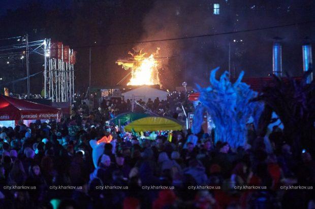 В центре Харькова отгуляли Масленицу