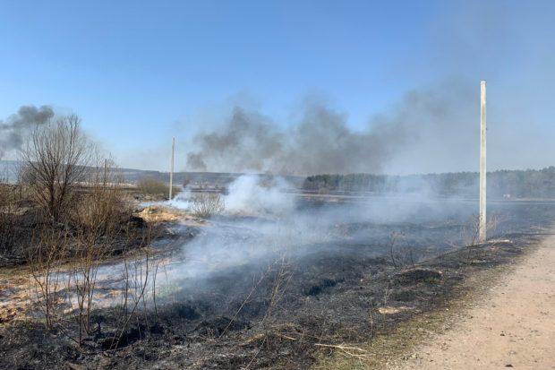 На Харьковщине за сутки выгорело 70 гектаров травы