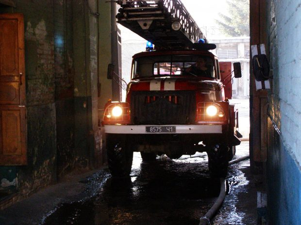 В центре Харькова горел подвал жилого дома
