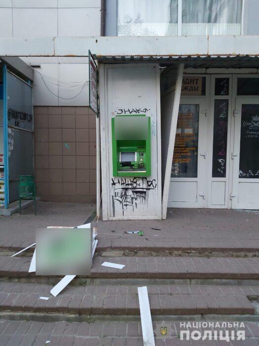 В Харькове ночью подорвали банкомат