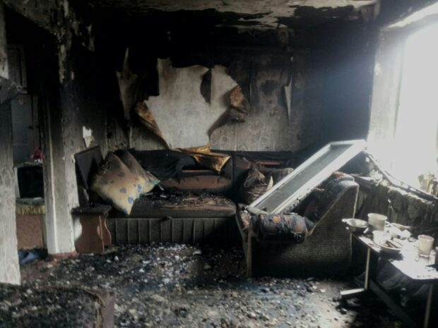 Под Харьковом на пожаре погиб мужчина