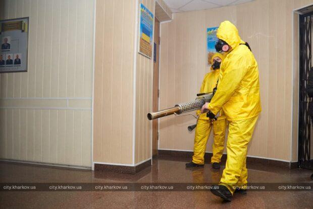 В зданиях харьковской полиции проводят дезинфекцию