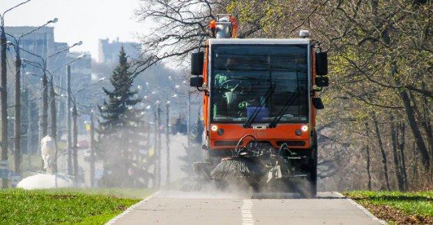 В Харькове проводят дезинфекцию улиц