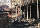 """На проспекте Науки сгорело кафе """"4 сезона"""""""