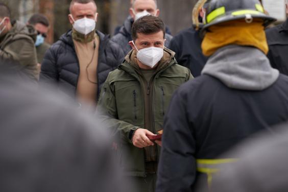 Харьковский пожарный получил государственную награду