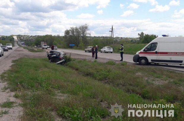 Под Харьковом в результате аварии пострадали дети