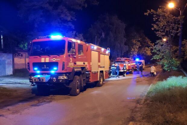 В Харькове на пожаре пострадал бездомный