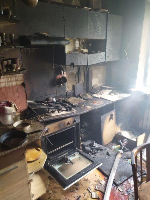 Под Харьковом горела квартира в 9-этажке