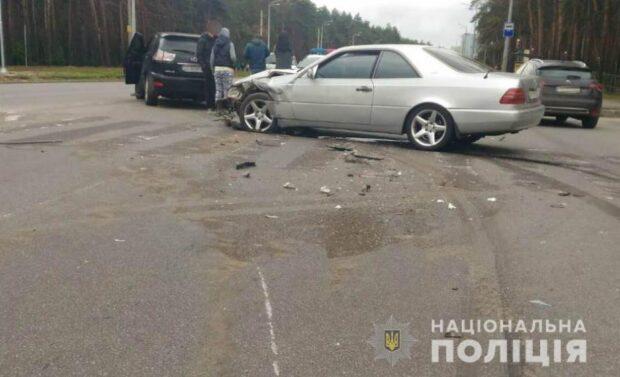 В результате аварии на Салтовке пострадала женщина
