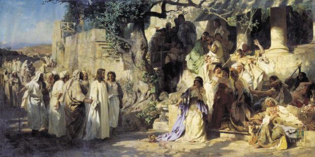 """Картина Генриха Семирадского, """"Грешница"""""""