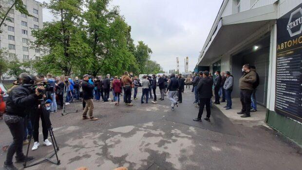 В Харькове протестовали медики на подстанции скорой помощи