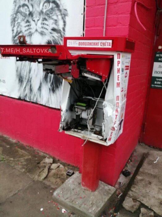 В Харькове ночью разбили платежный терминал и украли 4000 гривен