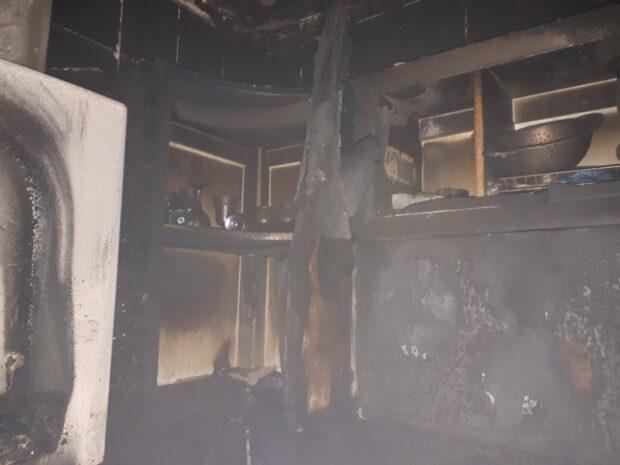 В Харькове горела квартира в двухэтажном доме