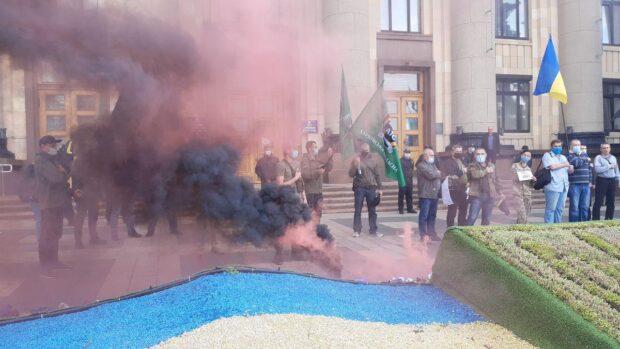 В центре Харькова проходит акция за отставку Арсена Авакова