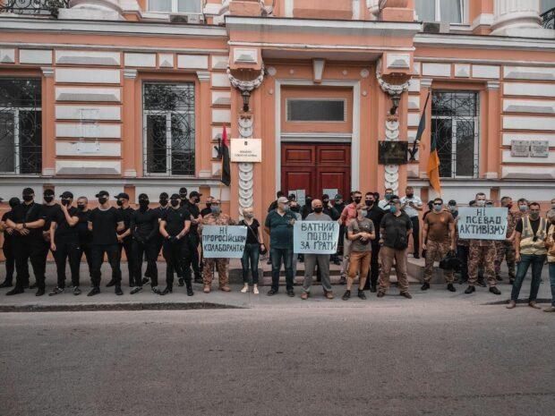 В Харькове сторонников организации Poton забросали яйцами
