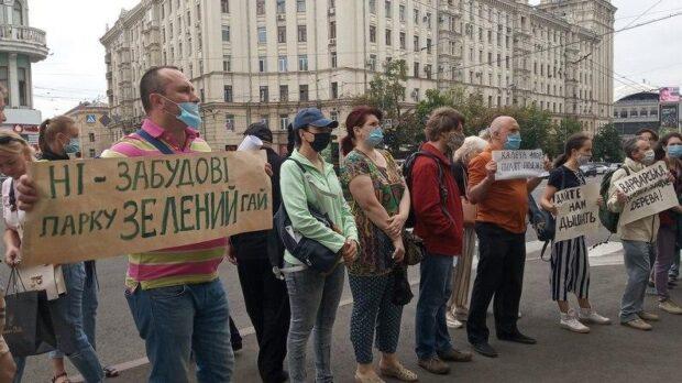 Харьковчане вышли на пикет под стены городского совета