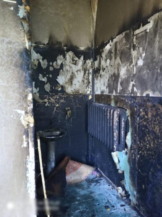 В Харькове горела детская поликлиника