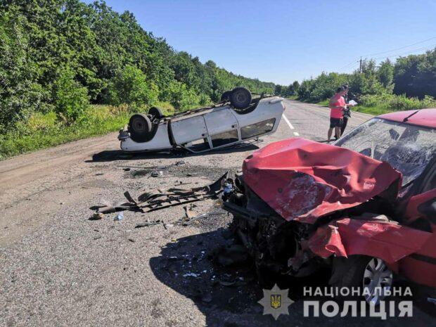 В результате аварии под Харьковом пострадали четыре человека