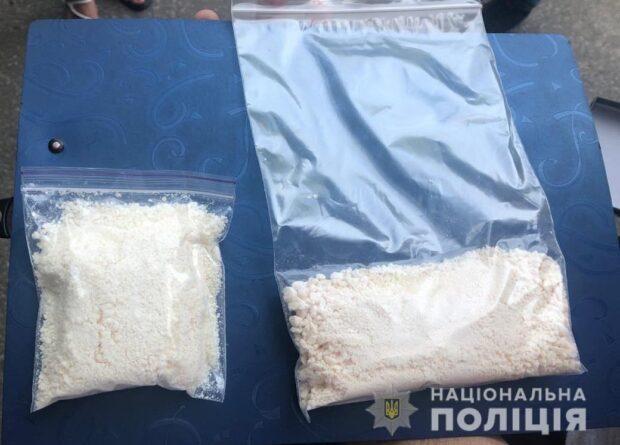 В Харькове на улице полицейские нашли у женщины амфетамин