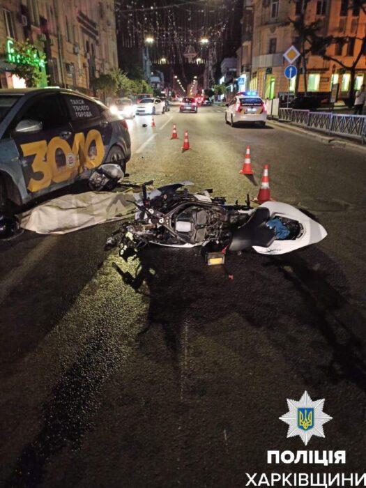В ночном ДТП на Пушкинской погиб мотоциклист