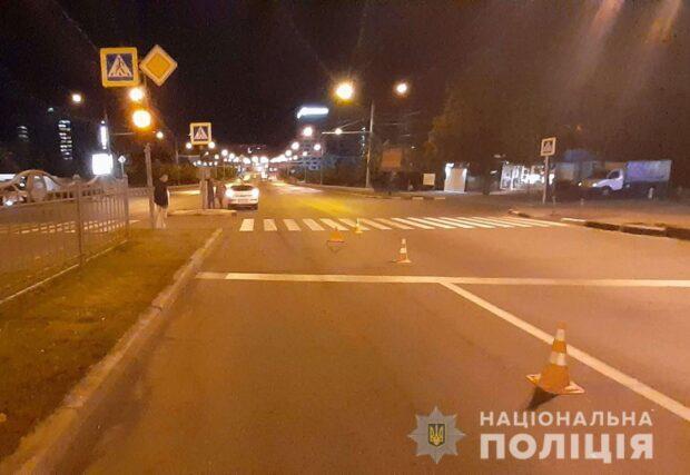 В Харькове на пешеходном переходе сбили женщину