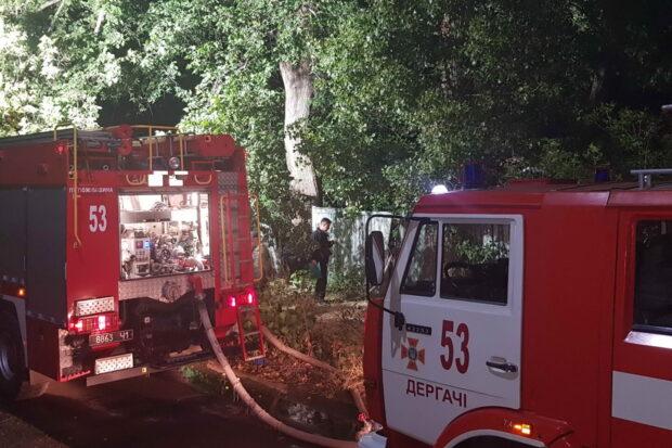 Под Харьковом горело два заброшенных дома