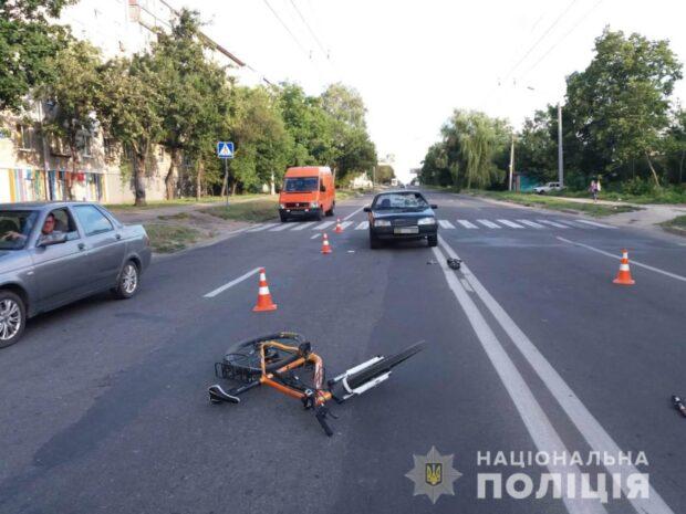 В Харькове сбили велосипедиста