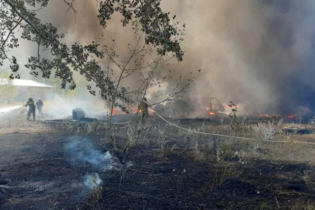 На Харьковщине из-за выжигания сухостоя произошло несколько крупных пожаров
