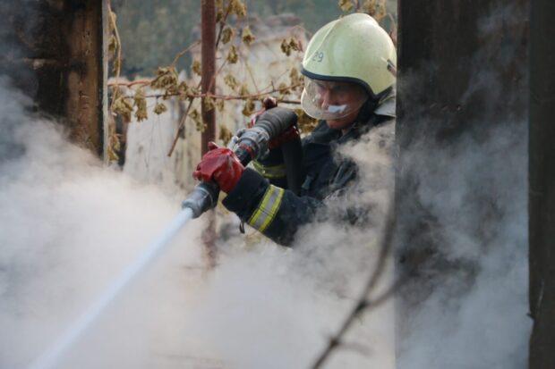 Пожар в Двуречанском районе полностью погасили