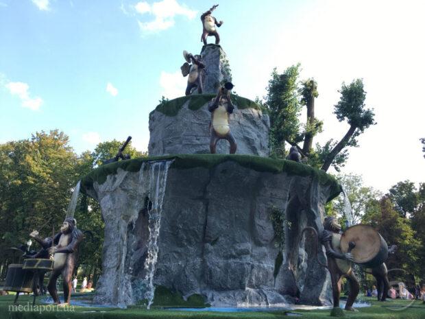 На фонтан с обезьянами в саду Шевченко купят навес за 1,4 млн гривен - ХАЦ