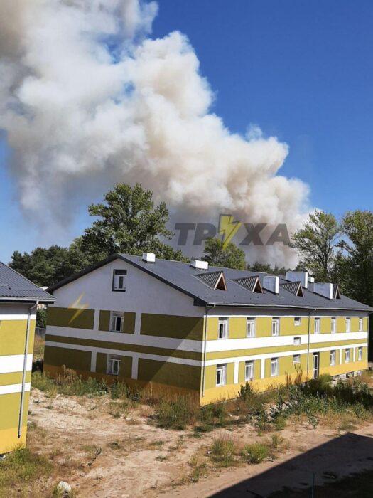 В Харьковской области масштабный лесной пожар