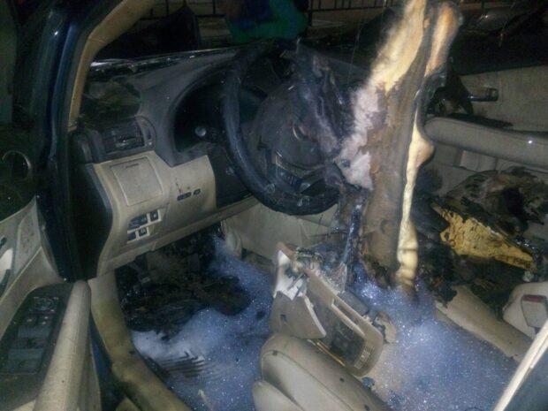 В Лозовой сгорел Lexus одного из кандидатов в мэры