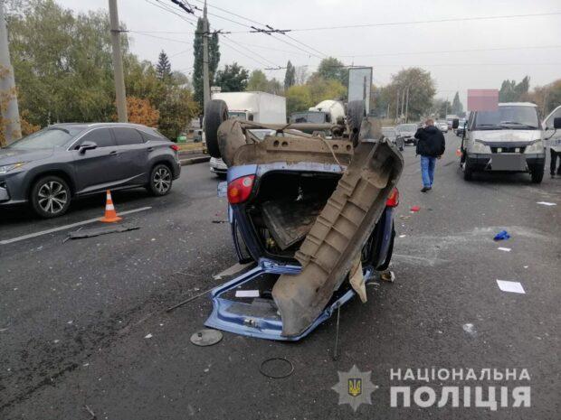 В Харькове полиция ищет свидетелей аварии в результате которой умер пенсионер