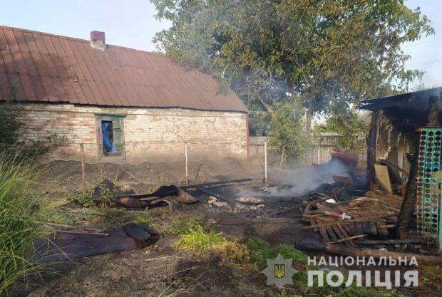 В Харьковской области женщина с целью мести подожгла чужой дом и сарай