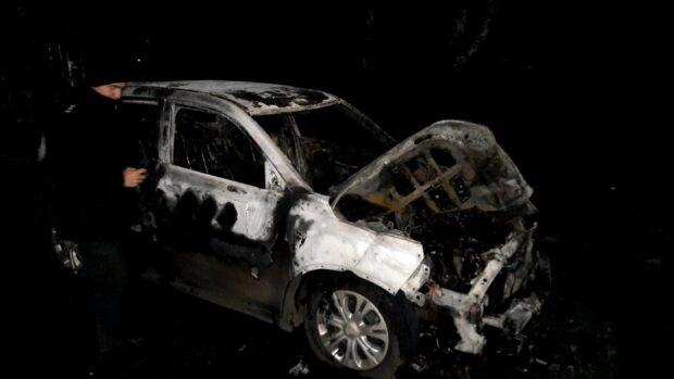 Под Харьковом кандидату в депутаты сожгли автомобиль