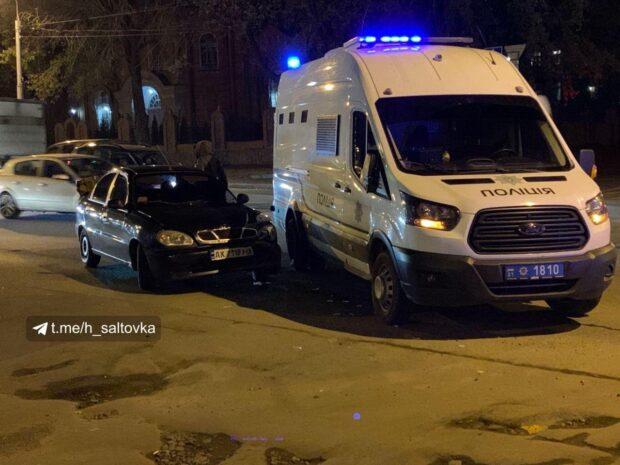 В Харькове произошло ДТП с участие полицейского микроавтобуса