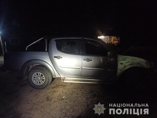 В Харьковской области мужчине ночью сожгли автомобиль