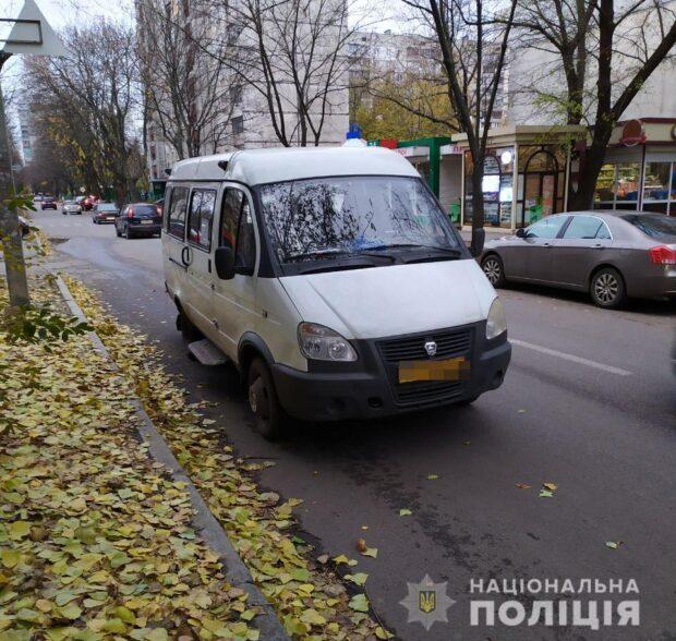 В Харькове водитель микроавтобуса сбил школьника