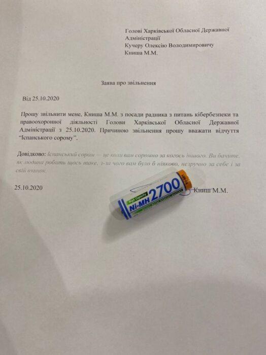 «Испанский стыд»: советник Кучера подал заявление на увольнение