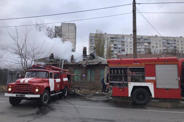В Харькове на пожаре обнаружили тело пожилого мужчины