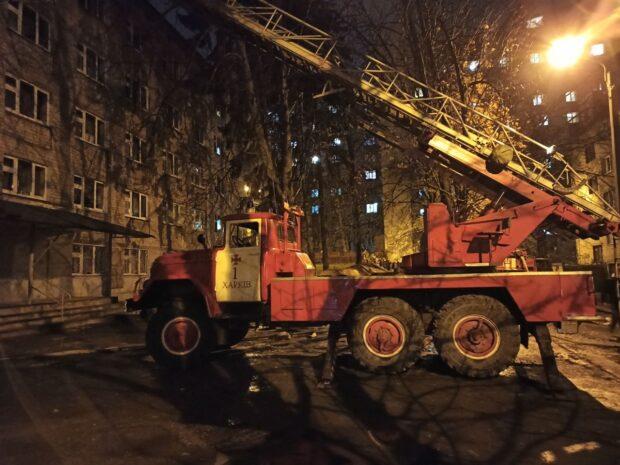 В Харькове сгорела комната студенческого общежития ХНМУ
