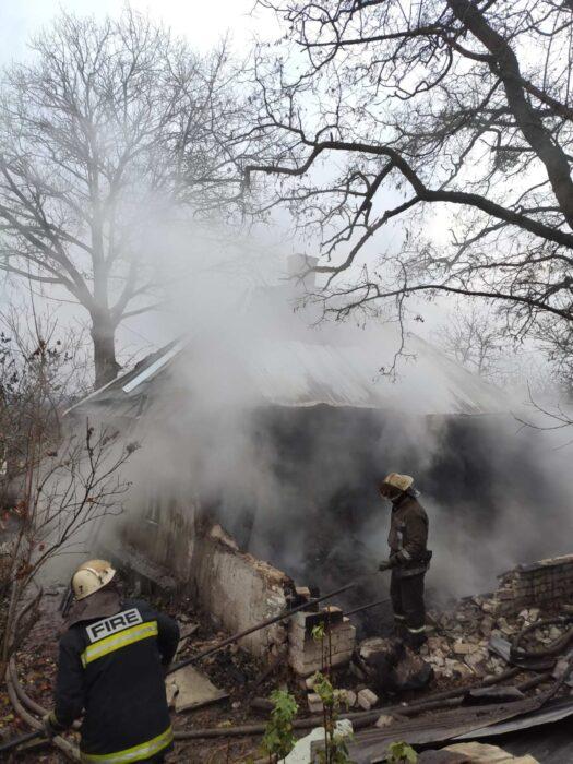 В Харькове на пожаре обнаружили тело дедушки