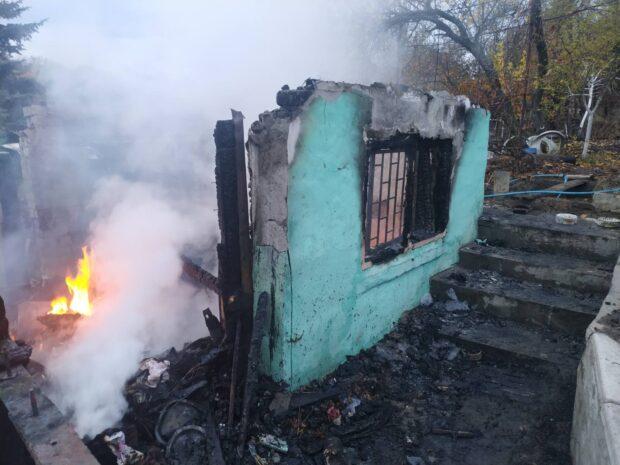 На Харьковщине сгорел дачный дом