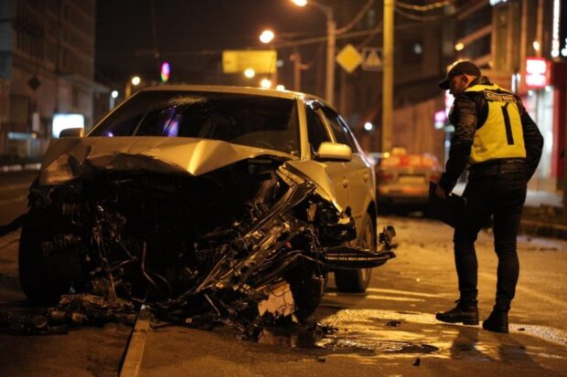 На Московском проспекте столкнулись два автомобиля: один из водителей пострадал