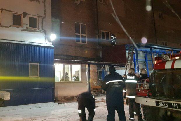 В Харькове произошел пожар в помещения офиса