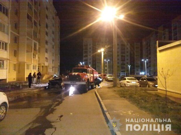 В Харькове полиция расследует поджог автомобилей
