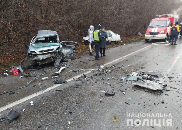 Под Харьковом столкнулись четыре автомобиля