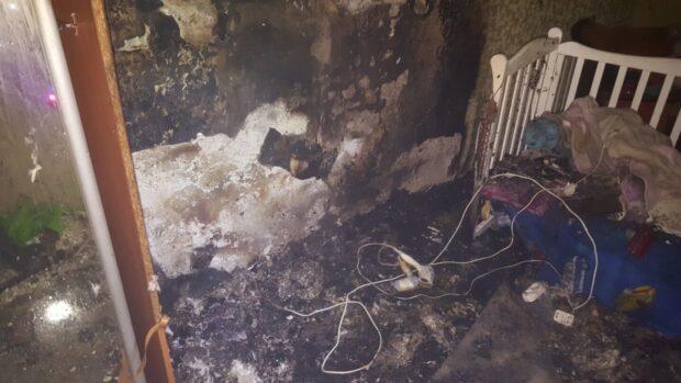В Харькове из-за короткого замыкания горела квартира